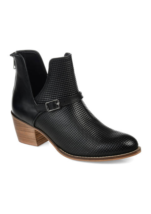 Journee Collection Genuine Leather Shaw Booties