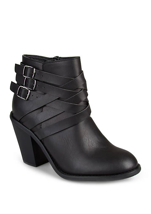 Journee Collection Wide Width Strap Boots