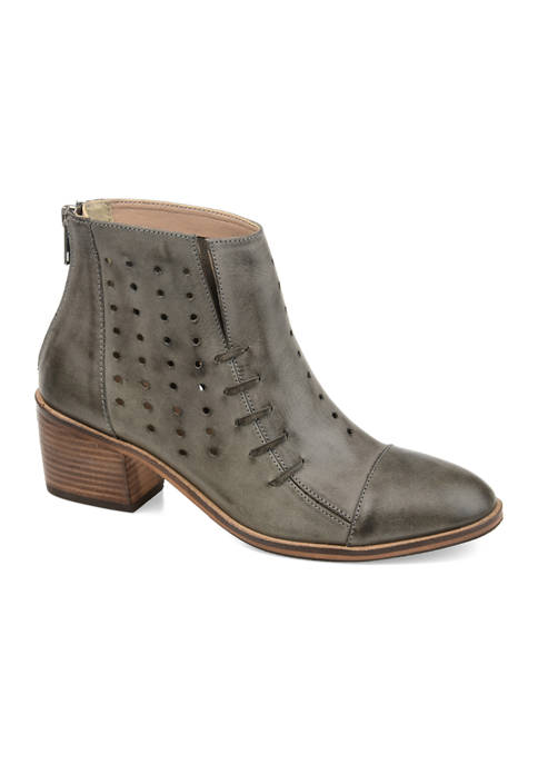 Journee Collection Genuine Leather Ulima Booties