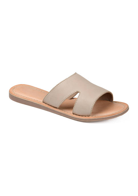 Journee Collection Genuine Leather Walker Sandals