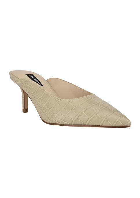 Angle Slip On Pointed Toe Pumps