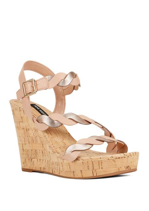 Nine West Brette Cork Wedge Sandals