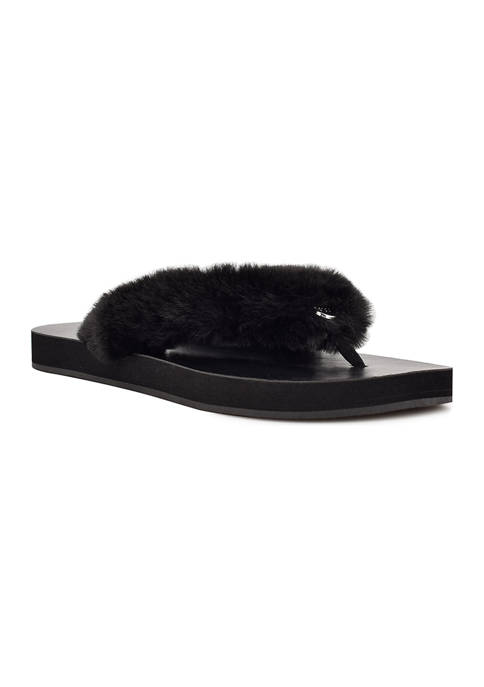 Chilly Furry Flip-Flops