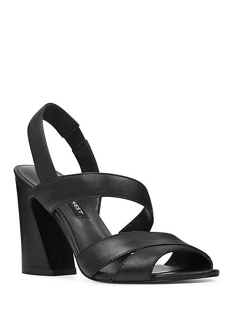 Nohemi Strappy Flare Heel Sandals