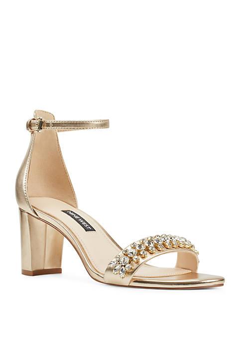 Perla Bejeweled Sandals