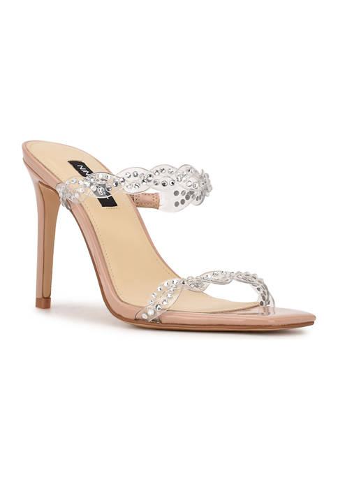 Nine West Ziggle Heeled Slide Sandals