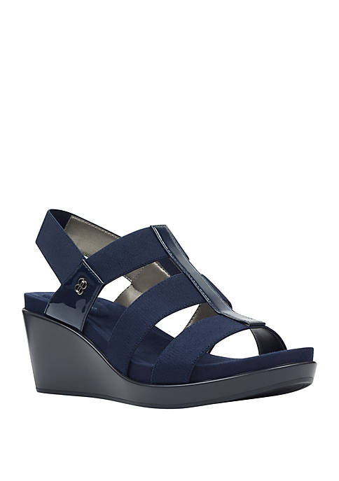 Bandolino Alba Strech Wedge Sandals