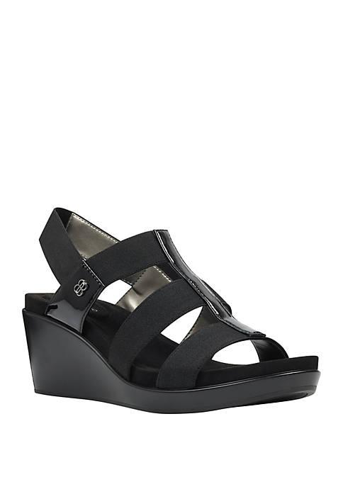 Bandolino Alba Strech Wedge Sandals