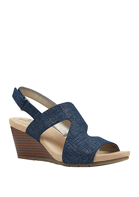 Bandolino Gannet Slip On Wedge Sandals