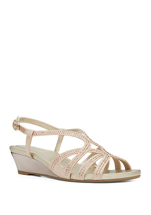 Bandolino Gayla Embroidered Wedge Sandals