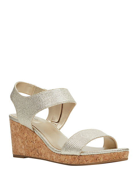 Bandolino Tessa Cork Wedge Sandals
