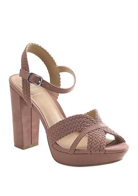 Kaari Blue™ Rose Block Heel Sandals