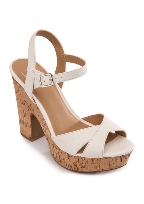 Vera Cork Heel Sandals