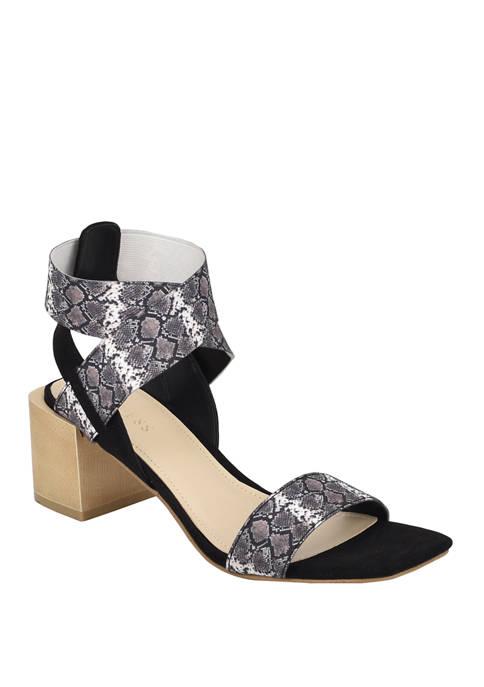 GUESS Ellete Block Heel Sandals