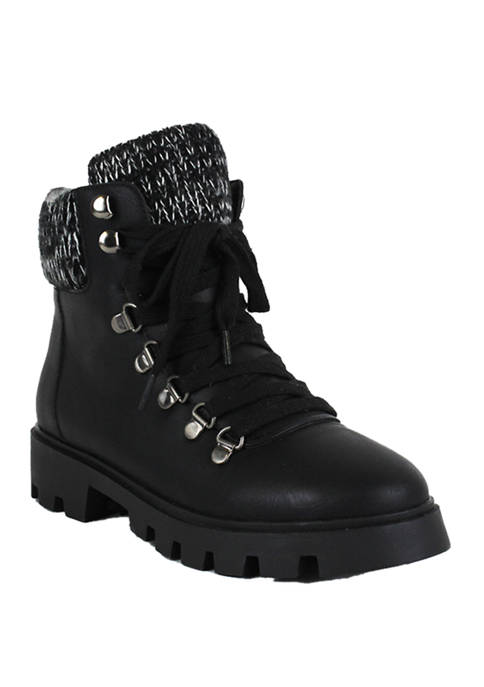 Lust For Life Frio Sweater Top Hiker Boots