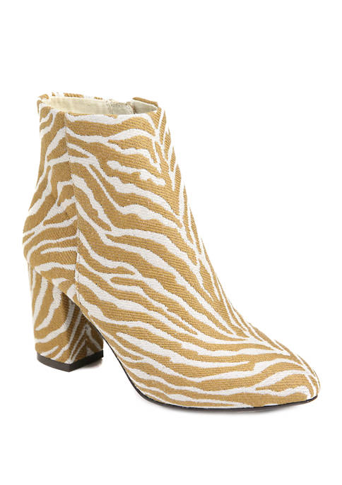 Band of Gypsies Pillar Heel Zippered Ankle Boots