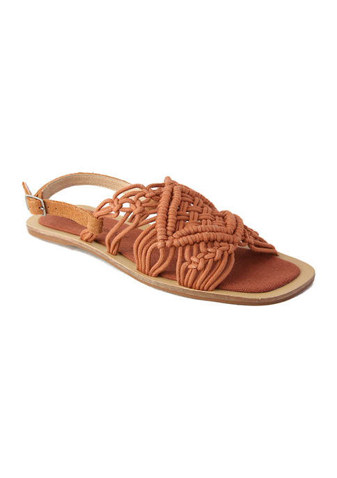 Callisto Hand Crocheted Cord Sandals