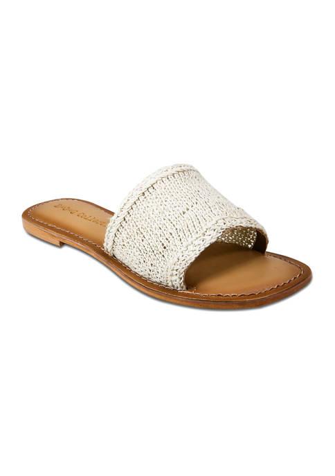 Concha Macrame Slide Sandals