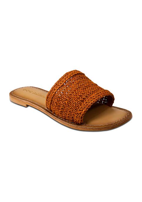 Band of Gypsies Concha Macrame Slide Sandals