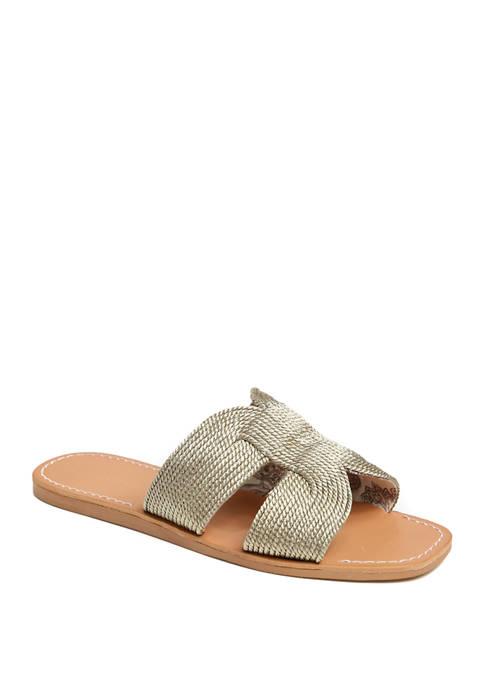 Flat H Band Sandals