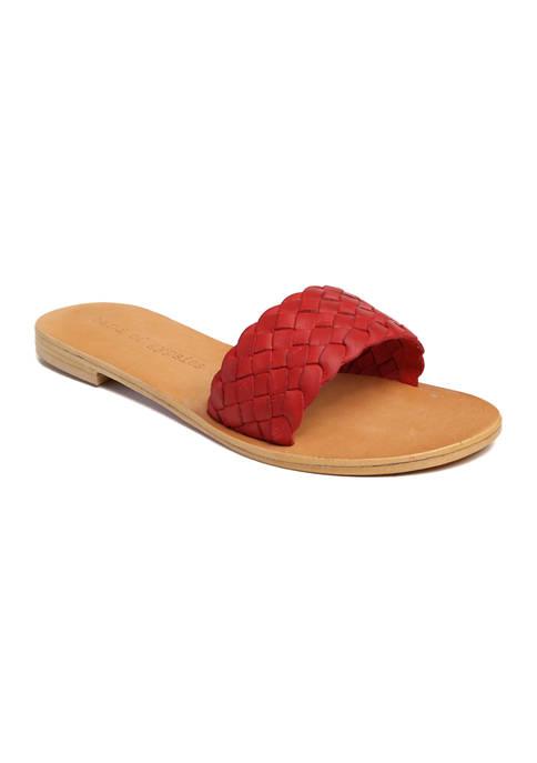 Woven One Band Slide Sandal