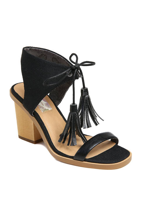 Band of Gypsies Tasseled Ankle Tie Sandals