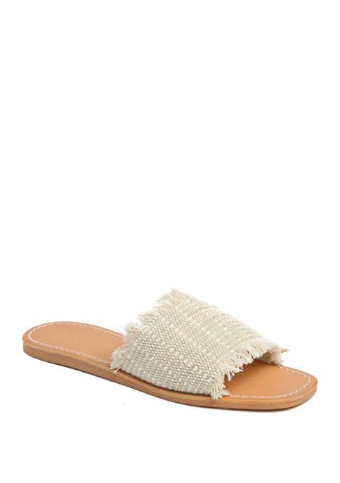 Marina Fringed Flat Sandals