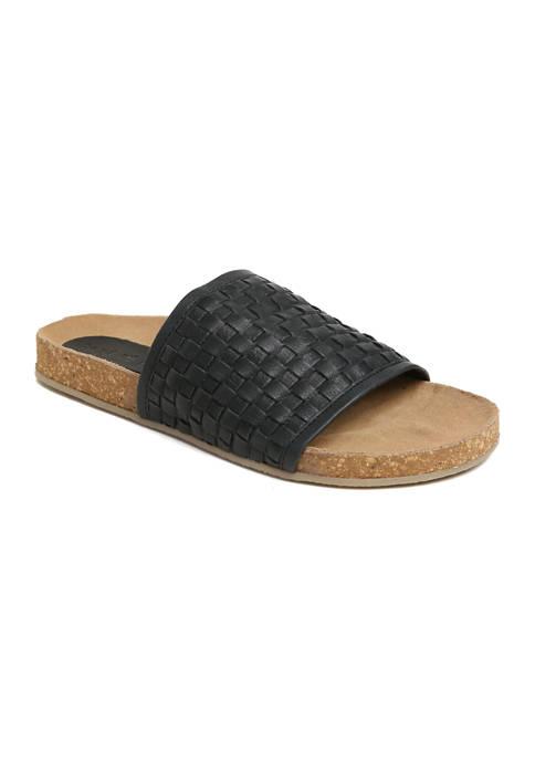 Woven Slide Footbed Sandal