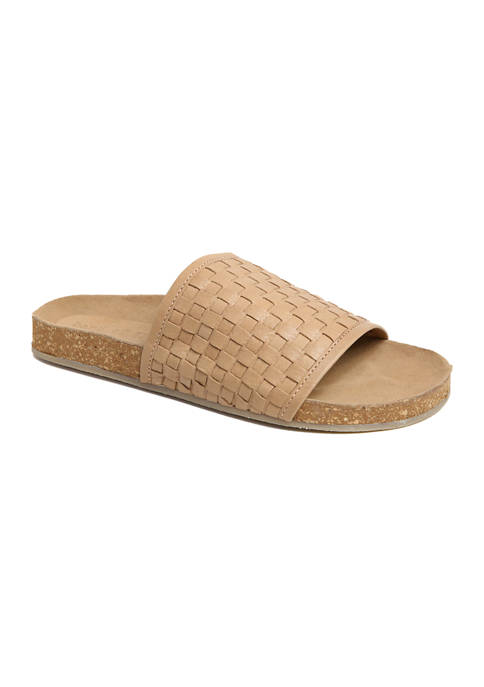 Band of Gypsies Woven Slide Footbed Sandal