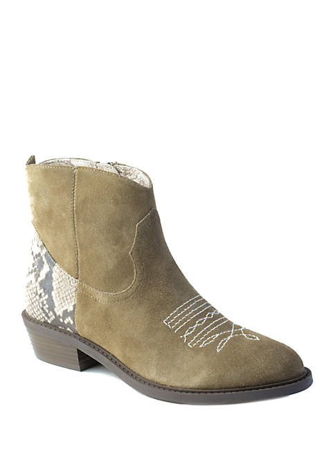 Band of Gypsies Montrose Rustic Western Zip Booties