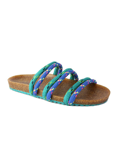 Rhea Rope Strap Footbed Sandals