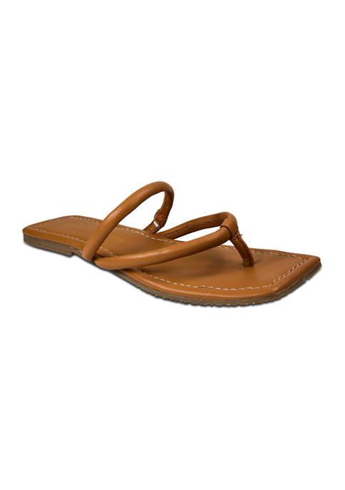 Rambla Square Toe Thong Sandals