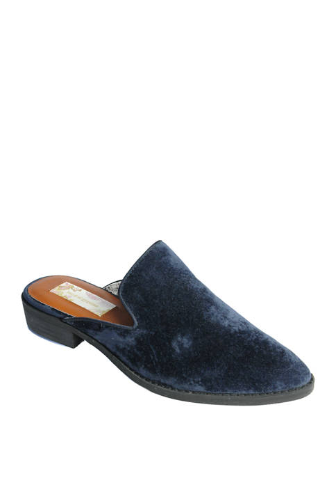 Band of Gypsies Slipper Cut Velvet Mules
