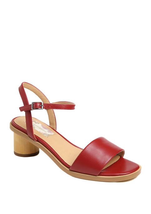 Topanga Wood Heel Sandals