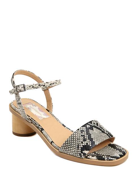 Topanga Wood Heel Sandals