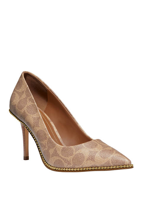 COACH Waverly Beaded Pumps