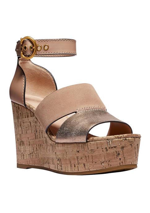 COACH Isla Wedge Sandals