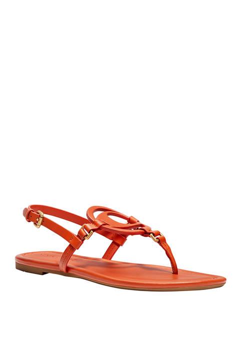 COACH Jeri Logo Thong Sandals