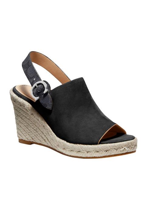 COACH Poppy Wedge Sandals