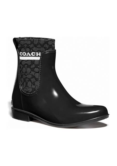 COACH Rivington Rain Booties