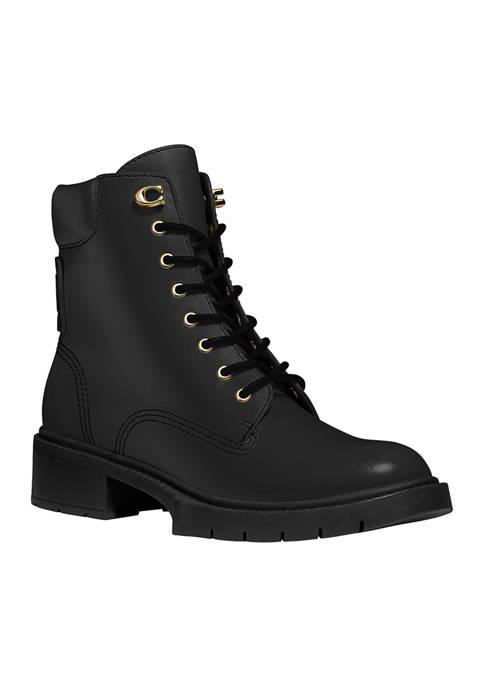 COACH Lorimer Lace Up Combat Boots