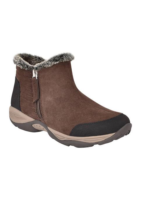 Easy Spirit Ellinot Fur Trim Ankle Booties