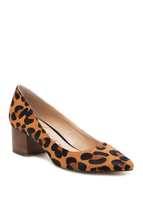 Sole Society Andorra Low Heel Leopard Pumps
