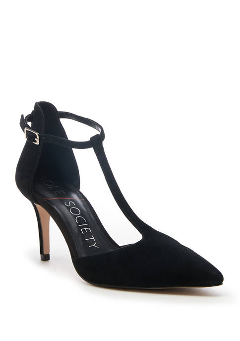 Sole Society Renelle T Strap Dress Pumps