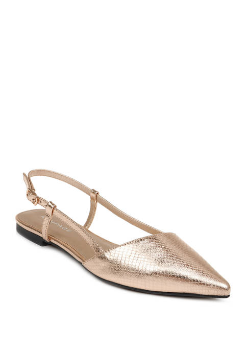 Rampage Cora Pointed Toe Slingback Flats