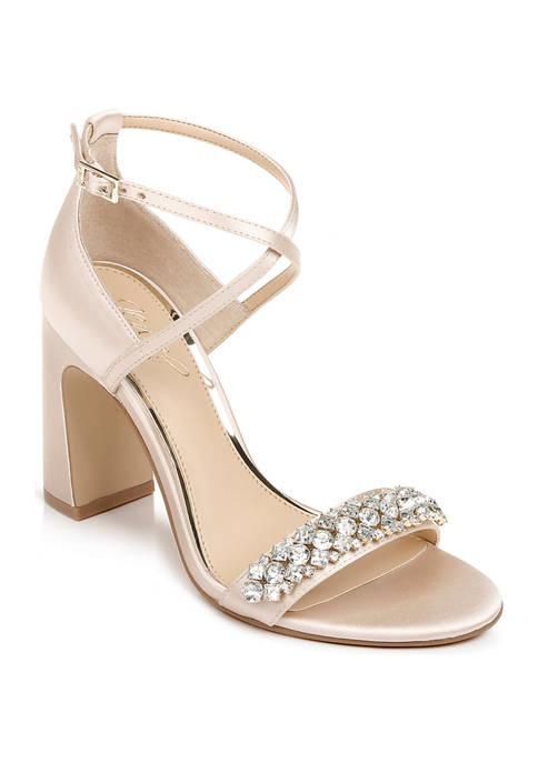 Jewel Badgley Mischka Penny Heeled Sandals