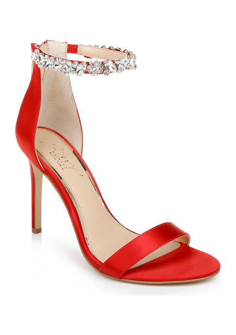 Jewel Badgley Mischka Jax Heeled Sandals