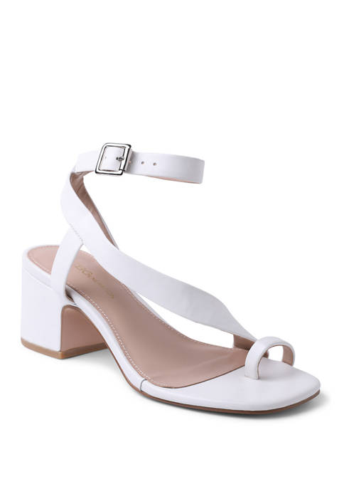 Asymmetrical Block Heel Sandals