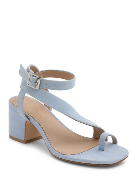 BCBGeneration Asymmetrical Block Heel Sandals