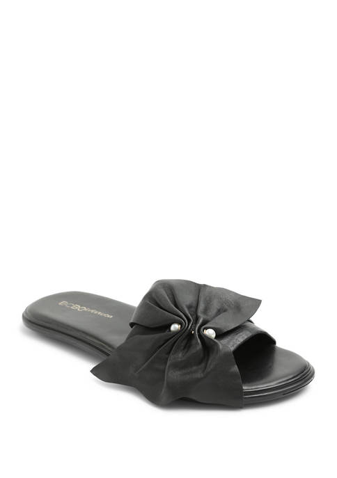 BCBGeneration Flat Sandals with Bow